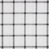 White & Black Plaid Duck Cloth Fabric