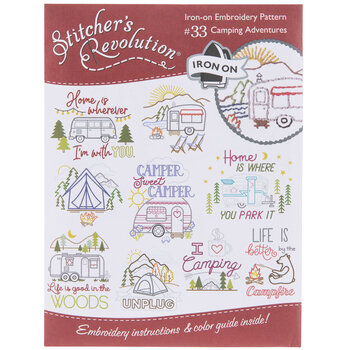 Camping Adventures Embroidery Transfer Sheet
