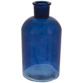 Blue CylinderGlass Vase