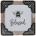 Blessed Bee Wood Wall Decor