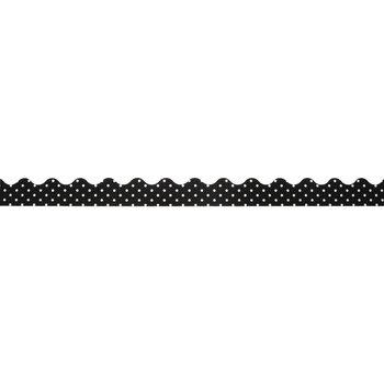 Black & White Polka Dot Scalloped Trimmer