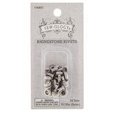 "Silver Rhinestone Rivets - 5/16"""