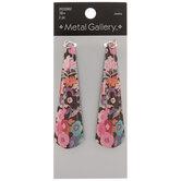 Multi-Color Floral Print Pendants