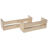 Wood Crate Wall Shelves Set