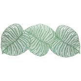 Green Monstera Leaf Centerpiece