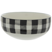 Black & White Buffalo Check Bowl