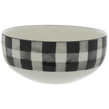 Black & White Buffalo Check Bowl