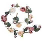 Cream & Blush Roses Garland