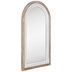 Natural & White Arched Wood Wall Mirror