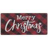 Merry Christmas Buffalo Check Magnet