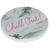 Chill Out Beach Car Coaster