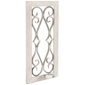 Whitewash Filigree Metal Wall Sconce
