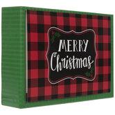 Merry Christmas Buffalo Check Cards