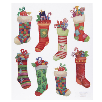 Stockings Glitter Stickers