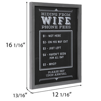 Hiding From Wife Wood Wall Decor