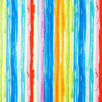 Watercolor Striped Duck Cloth Fabric