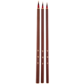 Goat & Sable Liner Paint Brushes - 3 Piece Set