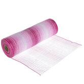 "Pink Ombre Deco Mesh Ribbon - 10"""