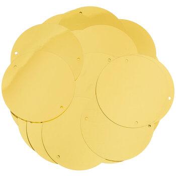 Gold Metallic Round Flat Sequins - 40mm