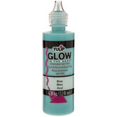 Blue Glow-In-The-Dark Fabric Paint - 4 Ounce