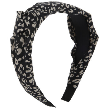 Black & White Cheetah Print Headband