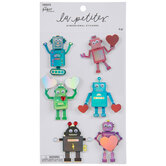 Robot Heart 3D Stickers