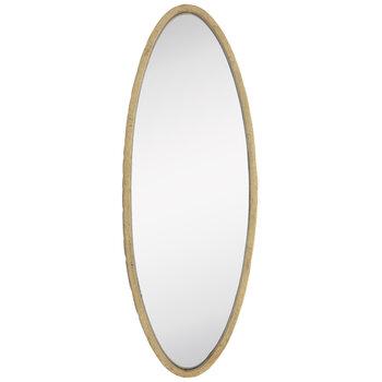 Gold Oval Metal Wall Mirror
