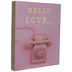 Pink Hello Love Telephone Wood Wall Decor