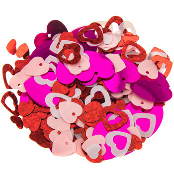 Romantic Heart Sequins