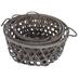 Gray Wash Lattice Basket Set