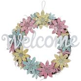 Welcome Metal Flower Wreath