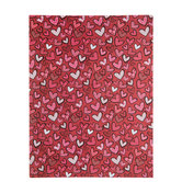 """Doodled Hearts Paper - 8 1/2"""" x 11"""""""