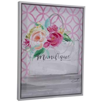Manifique Floral Purse Canvas Wall Decor