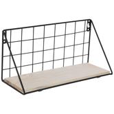 Black Wire Metal Wall Shelf