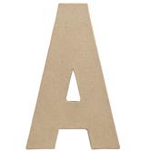 "Paper Mache Letter A - 8 1/4"""