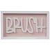 Pink & White Brush Wood Decor