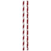 Red & White Dots & Stripes Paper Straws