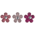 Pink Gem Flower Shank Buttons - 28mm