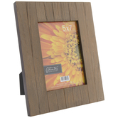 "Wire Brushed Wood Plank Frame - 5"" x 7"""