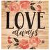 Love Always Wood Magnet