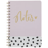 Pink Notes Spiral Notebook