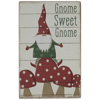 Gnome Sweet Gnome Wood Decor