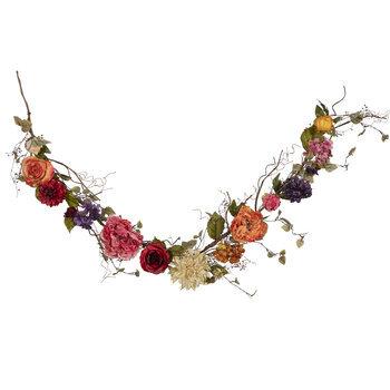 Hydrangea & Dahlia Mixed Garland