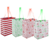 Red & Green Foil Assorted Gift Bags