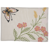 Embroidered Flower & Butterfly Placemat