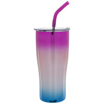Pink & Blue Ombre UV Coated Steel Tumbler