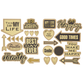 Gold Foil Best Day Ever Stickers