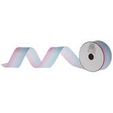 """Pink & Blue Mermaid Scale Grosgrain Ribbon - 1 1/2"""""""