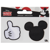 Mickey Mouse & Thumbs Up Iron-On Appliques