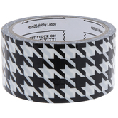 Black & White Houndstooth Art Project Tape